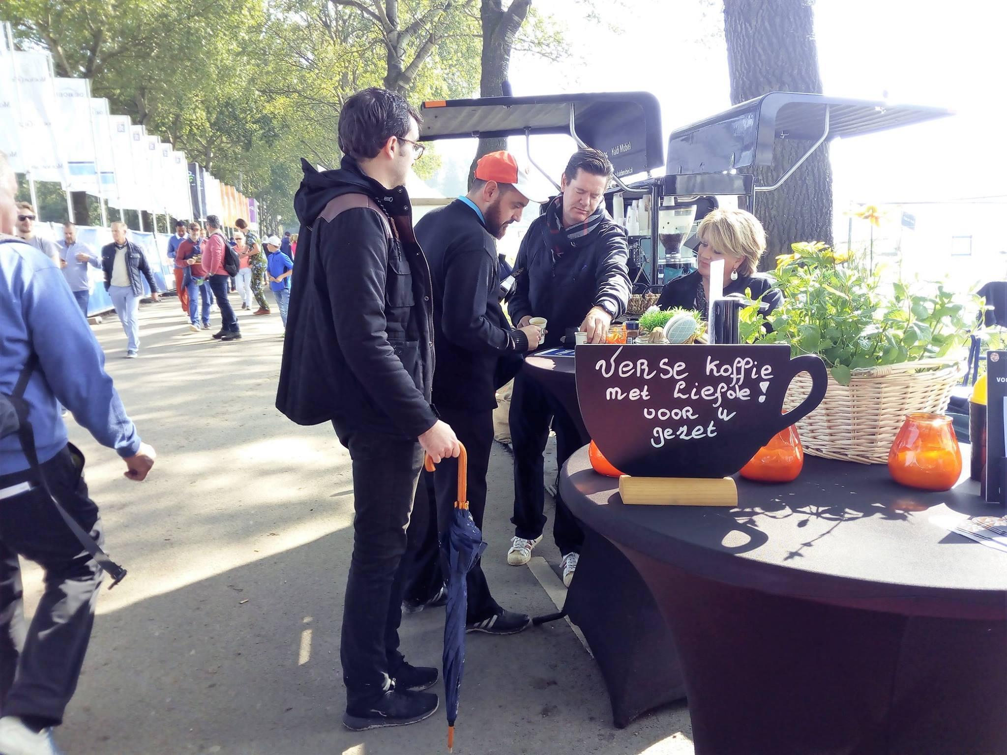 koffie op de KLM Open