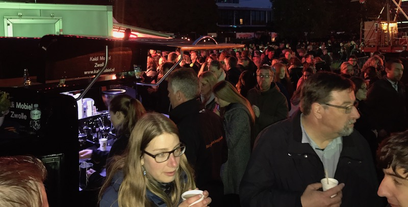koffiebar op bevrijdingsfestival
